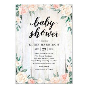 Rustic Baby Shower Invitations For Girls