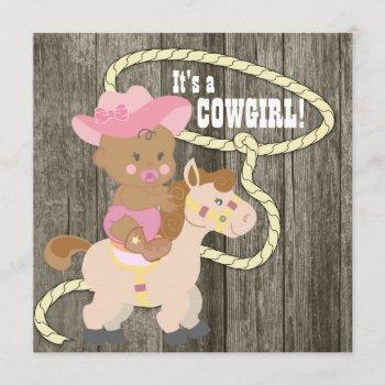 Rustic Barn Wood Cowgirl Baby Shower