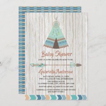 Rustic Boho Tribal Teepee Baby Shower