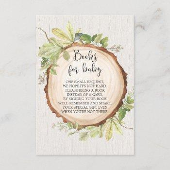 Rustic Book Request Baby Shower, Book Instead Card