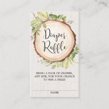 Rustic Gender Neutral Diaper Raffle Enclosure Card