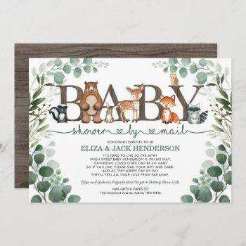 Rustic Greenery Woodland Baby Shower By Mail