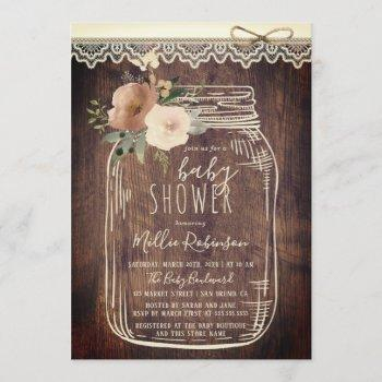 Rustic Lace & Twine | Floral Mason Jar Baby Shower