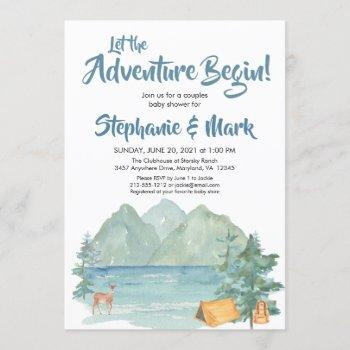 Rustic Mountains Watercolor Adventure Baby Shower