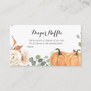 Rustic Pumpkin Baby Shower - Diaper Raffle