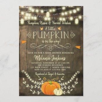 Rustic Pumpkin Fall Baby Shower