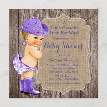Rustic Purple Cowgirl Baby Shower
