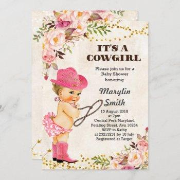Rustic White Cowgirl Baby Shower