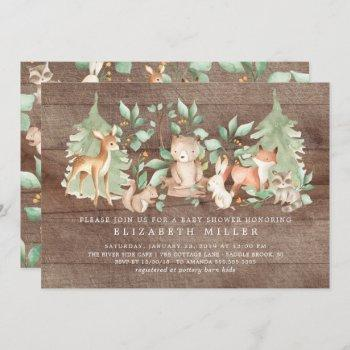 Rustic Woodland Forest Animals Baby Shower