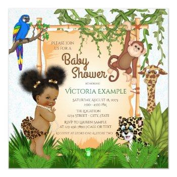 Safari Baby Girl Shower Invitations