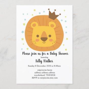 Safari Lion  Jungle Lion, Animal Illustration Invitation
