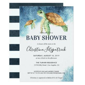 Sea Turtle | Baby Shower Invitation