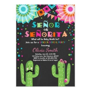 Señor Or Señorita Gender Reveal Invitation Fiesta