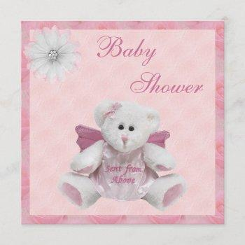 Sent From Above Angel Teddy Pink Baby Shower