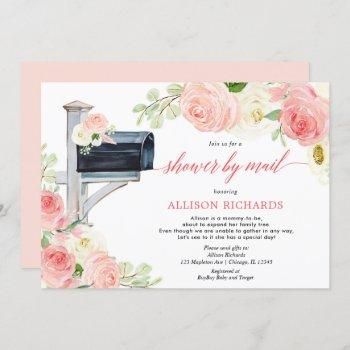 Shower By Mail Blush Pink Floral Girl Baby Shower Invitation
