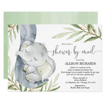 Shower By Mail Elephant Gender Neutral Baby Shower Invitation