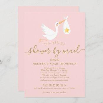 Shower By Mail Long Distance Stork Pink