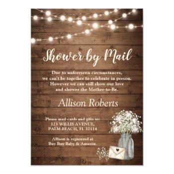 Shower By Mail Rustic Baby's Breath String Lights Invitation