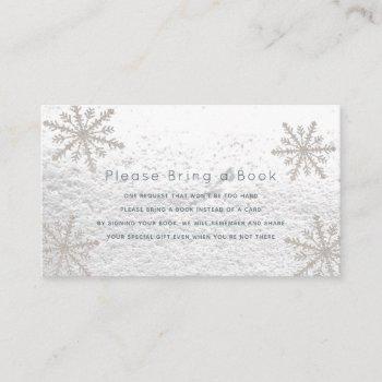 Silver Snowflakes Please Bring A Book