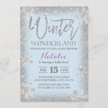 Silver Snowflakes Winter Wonderland Baby Shower