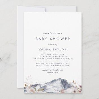 Simple Floral Mountain Baby Shower