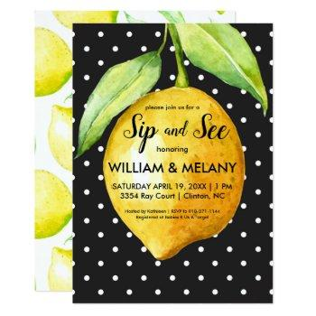 Sip And See: A Citrus Coed Baby Shower Invitation