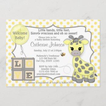 Snickerdoodle Giraffe Baby Shower Invitations Yg