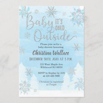 Snowflake Baby Shower  For A Boy