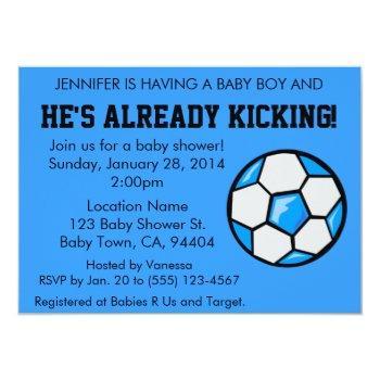 Soccer Baby Shower Invitation, Customizable Invitation