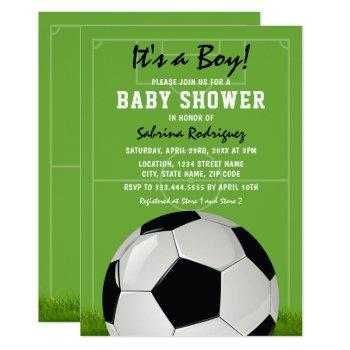 Soccer Baby Shower | It's A Boy Invitation