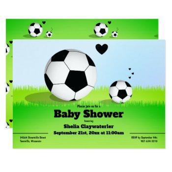Soccer/football Baby Shower | Invitation