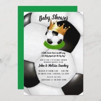 Soccer Star Royal Gold Crown Co-ed Baby Shower