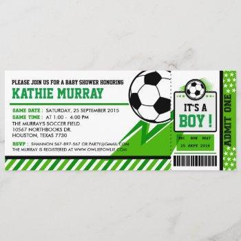 Soccer Ticket Pass Baby Shower