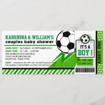 Soccer Ticket Pass Couples Baby Shower