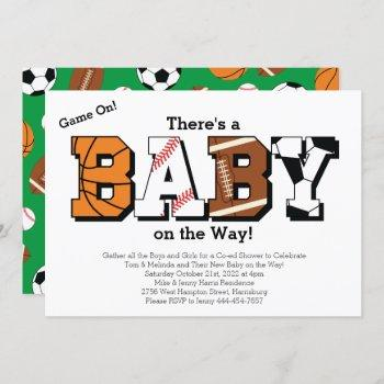 Sports Baby Shower Co-ed Green Gender Neutral