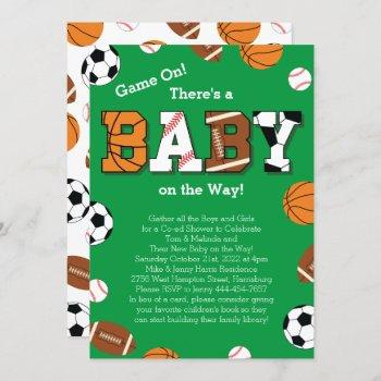 Sports Baby Shower Co-ed Theme