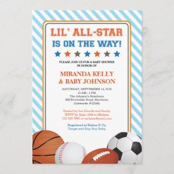 Sports Baby Shower , All Star Sports