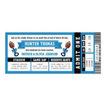 Sports Ticket Baby Shower Invitation, Black, Blue Invitation