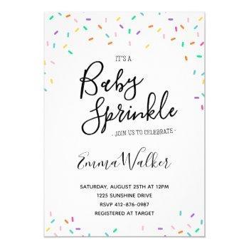 Sprinkles Baby Shower  Invitation