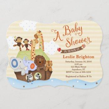 Ss Noah / Noah's Ark Baby Shower Invitation