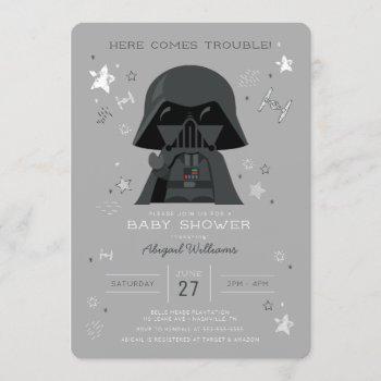 Star Wars   Darth Vader Baby Shower Invitation