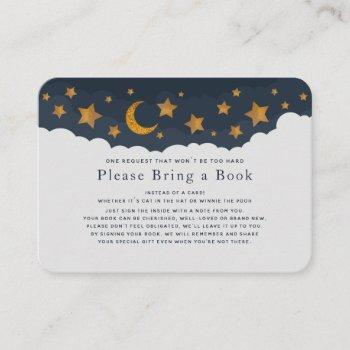 Starry Clouds Baby Shower Please Bring A Book Business Card