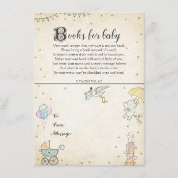 Story Book Baby Shower Book Plate