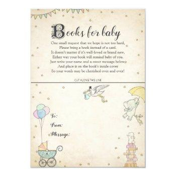 Story Book Baby Shower Book Plate Card