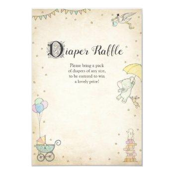 Story Book Baby Shower Diaper Raffle Card