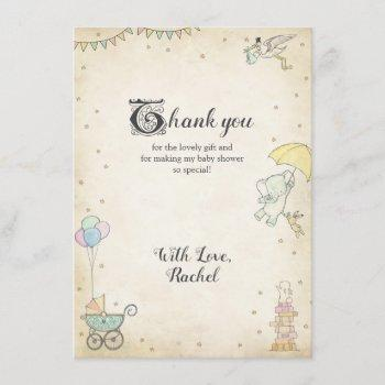 Story Book Baby Shower Thank You