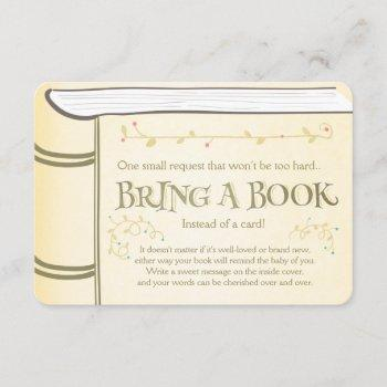 Storybook Bring A Book Vintage Yellow Enclosure Card