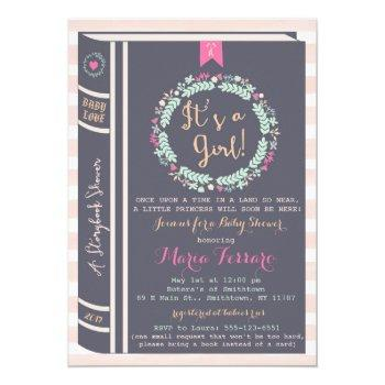 Storybook Fairytale Baby Shower Invitation
