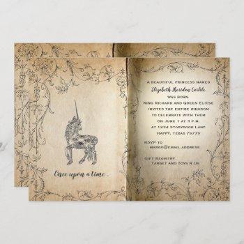 Storybook Perfect Unicorn Baby Girl Shower