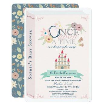 Storybook Princess Castle Pink Girl Baby Shower Invitation